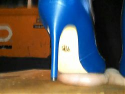 severe ball stomping in heels!