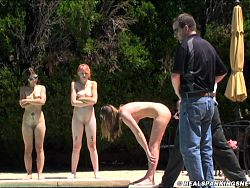 Three girl naked punishment outside