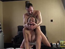 PASCALSSUBSLUTS - UK MILF Vicki Powell Dominated and Fed Cum