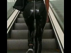 Shiny Pvc Vinyl Rubber Pants Leggings