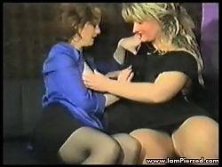 Iam Pierced lesbian MILFs with pussy piercings