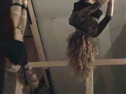 Stupid Sluts Bound & Hung from the Ceiling
