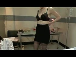 Slave tormented by crazy nurses (3on4) OtO