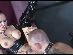 Goth threesome Hot BDSM