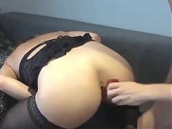 Slut Wife BoundGets Tied Up and Dicked to Strong Squirting O