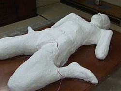 Japan Young Girl Mummification Casted and Masturbated