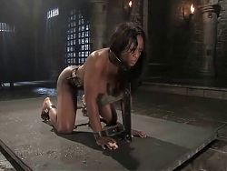 BDSM Ebony Big Tits,and Fat Pussy Lips Bondage...Kyd