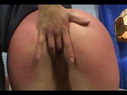Nerdy submissive punished and stripped hot blonde mistress