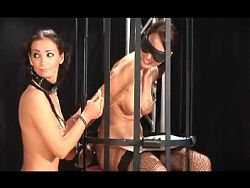 black haired breasts bondage