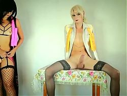 Mistress fucking her crossdresser slave