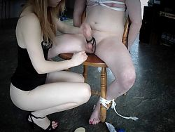 my  sissy bitch tied teased and tortured